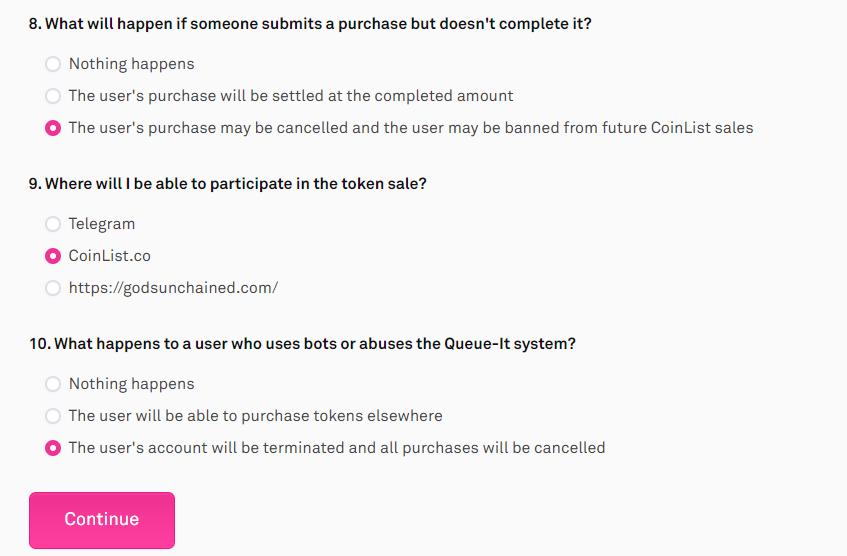 CoinList thông báo bán token của Gods Unchained (GODS) vào ngày 13 tháng 10 - Câu trả lời cho câu đố 23